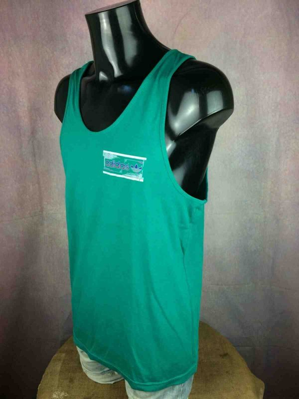 ADIDAS Tank Top Vintage 80s Made in France Gabba Vintage 3 - ADIDAS Tank Top Vintage 80s Made in France