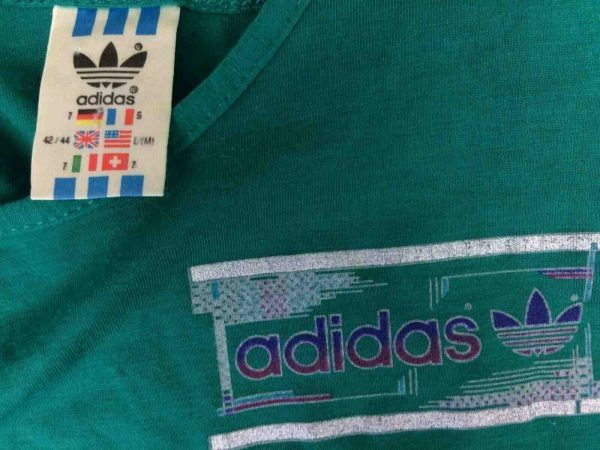 ADIDAS Tank Top Vintage 80s Made in France Gabba Vintage 5 - ADIDAS Tank Top Vintage 80s Made in France