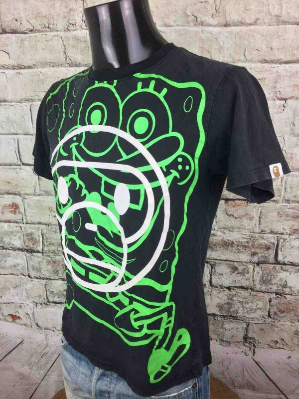 BAPE x SPONGEBOB T Shirt Ape Made in Japan Gabba Vintage 1 - BAPE x SPONGEBOB T-Shirt Ape Made in Japan