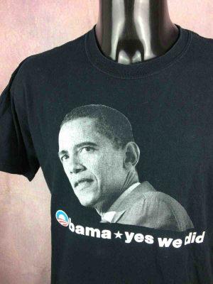 BARACK OBAMA T-Shirt Yes We Did 2008 USA - Gabba Vintage (1)