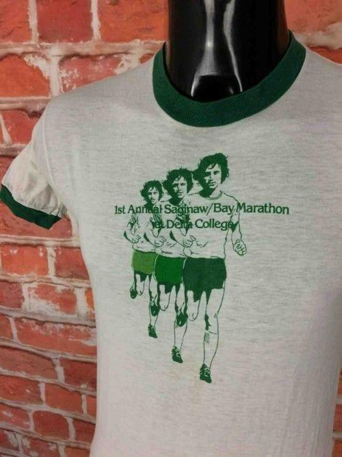 BAY MARATHON T-Shirt Vintage 80s Made in USA - Gabba Vintage (1)