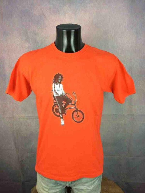 BOB MARLEY T Shirt Vintage 90s Tracksuit Bike Gabba.. 2 - BOB MARLEY T-Shirt Vintage 90s Tracksuit Bike