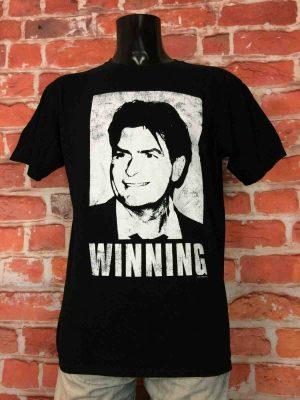 CHARLIE SHEEN T-Shirt Winning Crazy Official - Gabba Vintage (1)