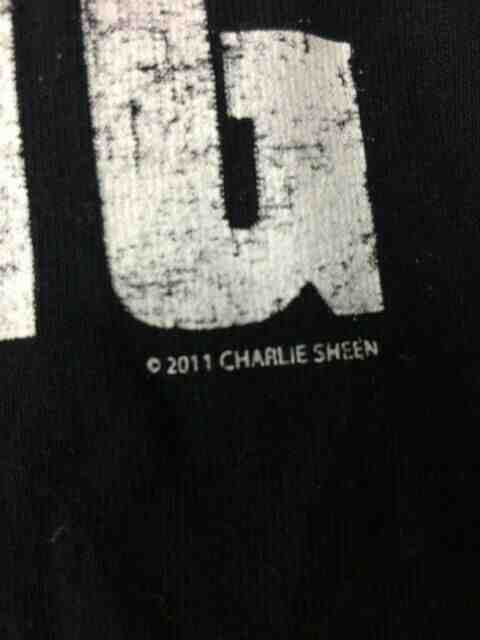 CHARLIE SHEEN T Shirt Winning Crazy Official Gabba Vintage 2 - CHARLIE SHEEN T-Shirt Winning Crazy Official