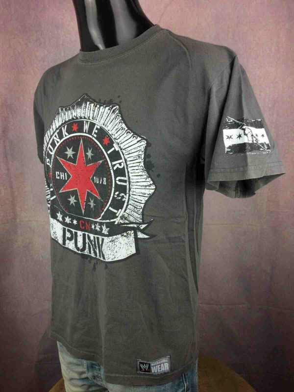 CM PUNK T Shirt In Punk We Trust WWE 2011 Gabba Vintage 3 - CM PUNK T-Shirt In Punk We Trust  WWE 2011