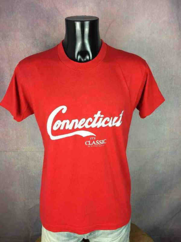 CONNECTICUT T-Shirt Vintage 1986 Made in USA - Gabba Vintage (2)