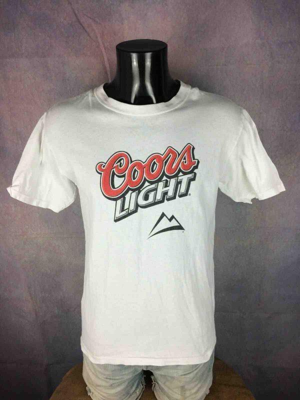 COORS LIGHT T Shirt Vintage 90s Old Logo USA Gabba Vintage 1 - COORS LIGHT T-Shirt Vintage 90s Old Logo USA