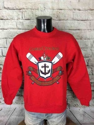 COSTA CROCIERE Sweatshirt Vintage Made in USA - Gabba...
