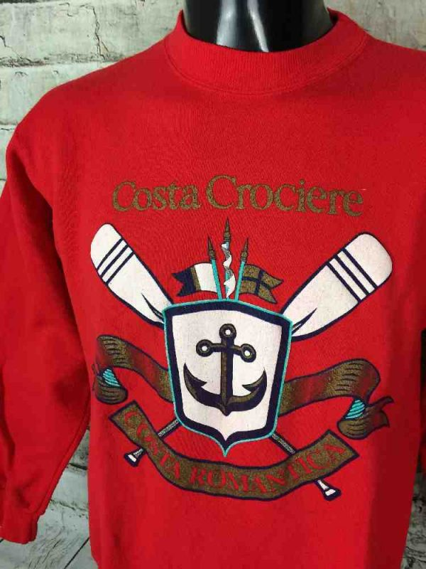 COSTA CROCIERE Sweatshirt Vintage Made in USA Gabba.. 3 - COSTA CROCIERE Sweatshirt Vintage Made in USA