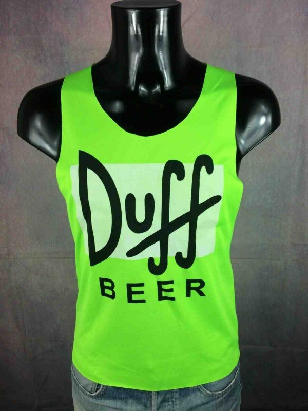 DUFF BEER Maillot Tank Top Fluo Simpsons Gabba Vintage 2 - DUFF BEER Maillot Tank Top Fluo Simpsons