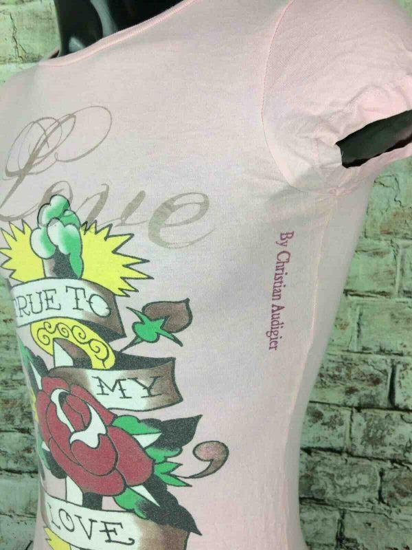 ED HARDY Don T Shirt Love Made in USA Rose Gabba Vintage 2 - ED HARDY Don T-Shirt Love Made in USA Rose