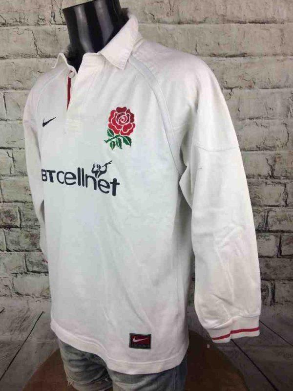 ENGLAND Maillot Vintage 1999 2001 Nike Team Gabba Vintage 5 - ENGLAND Maillot Vintage 1999 Rugby Nike Team