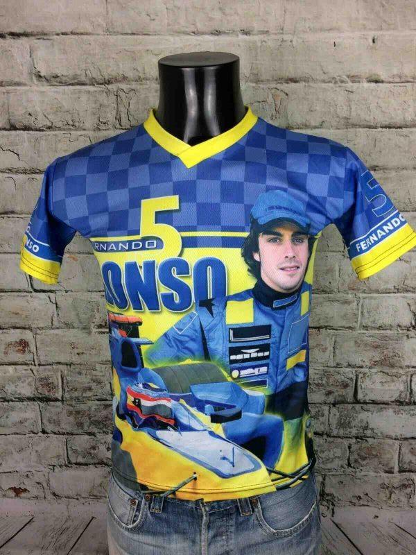 FERNANDO ALONSO T-Shirt Vintage 2005 Renault - Gabba Vintage (1)
