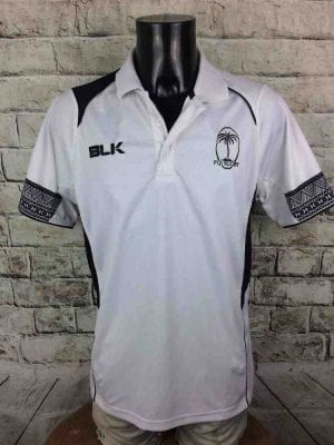 FIJI Rugby Polo Maillot BLK Flying Fijians - Gabba Vintage