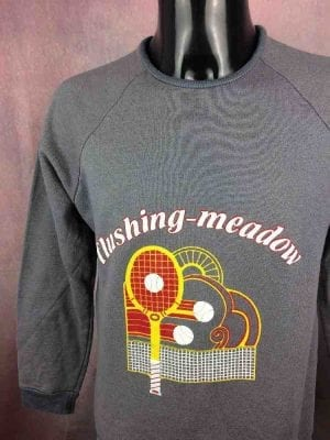 FLUSHING MEADOW SweatShirt Vintage 80s Tennis - Gabba...