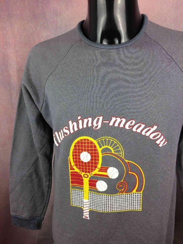 FLUSHING MEADOW SweatShirt Vintage 80s Tennis - Gabba...
