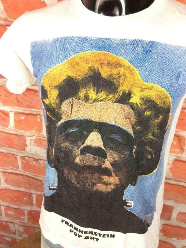FRANKENSTEIN T Shirt Pop Art Araina Marylin Gabba Vintage 2 - FRANKENSTEIN T-Shirt Pop Art Araina Marylin