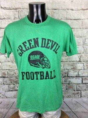 GREEN DEVIL T-Shirt Made in USA Vintage 80s - Gabba Vintage (1)