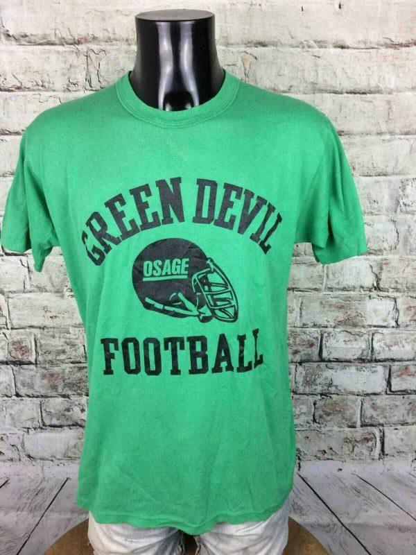 GREEN DEVIL T-Shirt Made in USA Vintage 80s - Gabba Vintage (1)