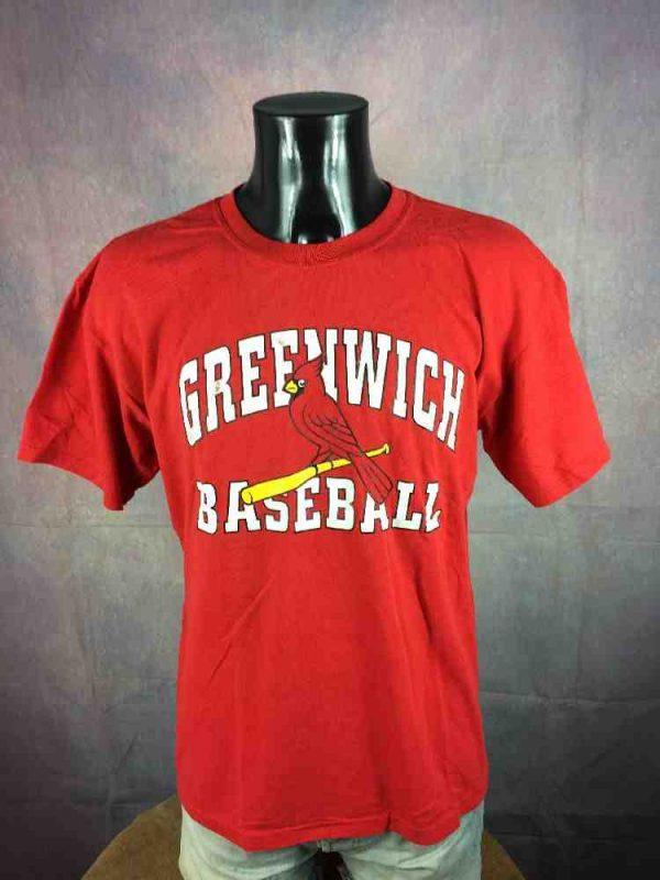 GREENWICH CARDINALS T Shirt Vintage Baseball Gabba Vintage 2 - GREENWICH CARDINALS T-Shirt Vintage Baseball