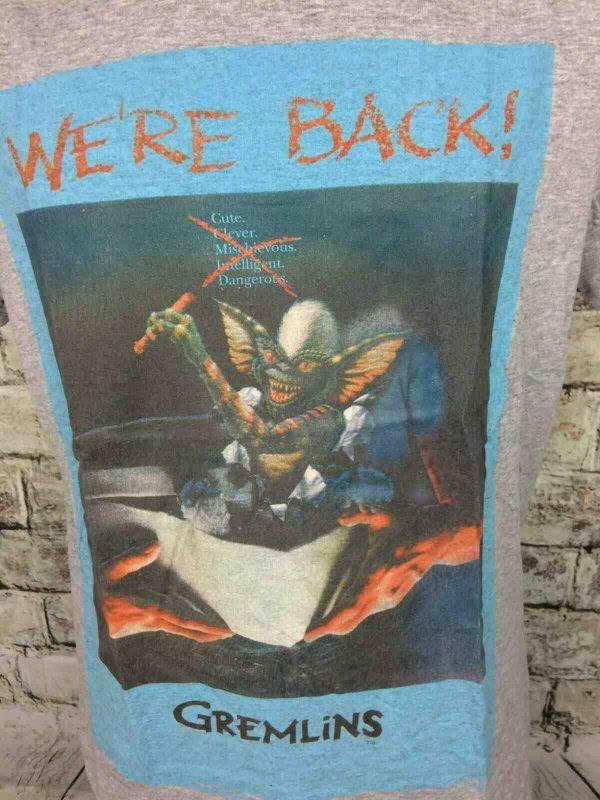 GREMLINS T Shirt Were Back Official Warner Gabba Vintage 2 - GREMLINS T-Shirt We're Back Official Warner