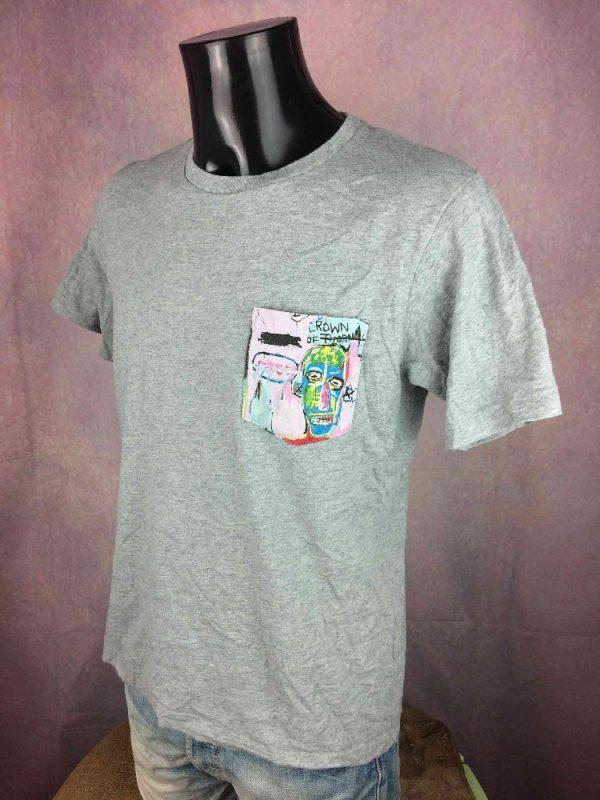 JEAN MICHAEL BASQUIAT T Shirt Official Paint Gabba Vintage 2 - JEAN-MICHEL BASQUIAT T-Shirt Official Paint