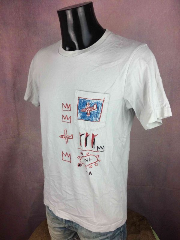JEAN MICHEL BASQUIAT T Shirt Official Planes Gabba Vintage 3 - JEAN-MICHEL BASQUIAT T-Shirt Official Planes