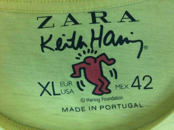 KEITH HARING T Shirt Whassup Fondation Art Gabba Vintage 3 - KEITH HARING T-Shirt Whassup Fondation Art