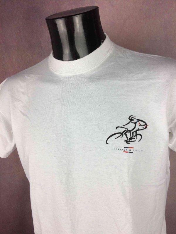 LA FRANCAISE DES JEUX Team T Shirt Vintage Gabba Vintage 3 - LA FRANCAISE DES JEUX Team T-Shirt Vintage