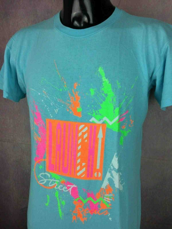 LAUNCH T Shirt Vintage 80s Made in Italy Gabba Vintage 1 - LAUNCH T-Shirt Vintage 80s Made in Italy