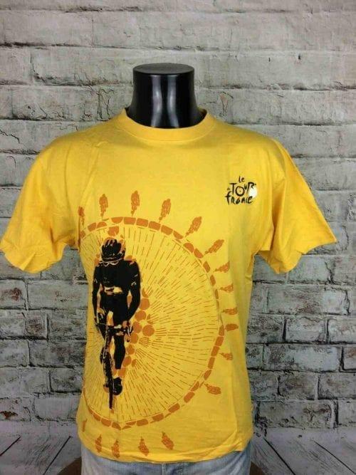 T-Shirt LE TOUR DE FRANCE, Edition Chrono, Licence Officielle, Pur Coton, Maillot jaune, Cyclisme, Vélo