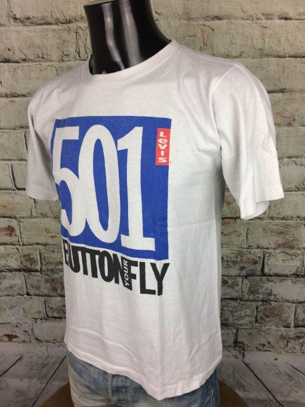 LEVIS 501 T Shirt Button Your Fly Vintage 90s 3 - LEVIS 501 T-Shirt Button Your Fly Vintage 90s