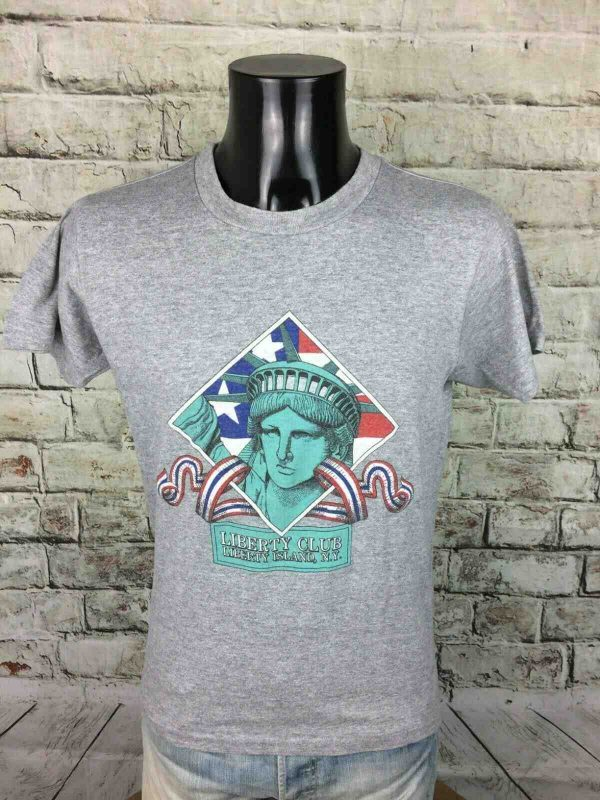 LIBERTY CLUB T Shirt Vintage 80s Made In USA Gabba Vintage 2 - LIBERTY CLUB T-Shirt Vintage 80s Made In USA