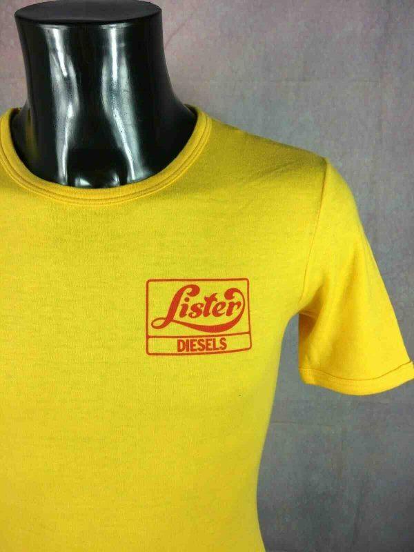 LISTER DIESELS T-Shirt Vintage 80s Motors - Gabba Vintage (1)
