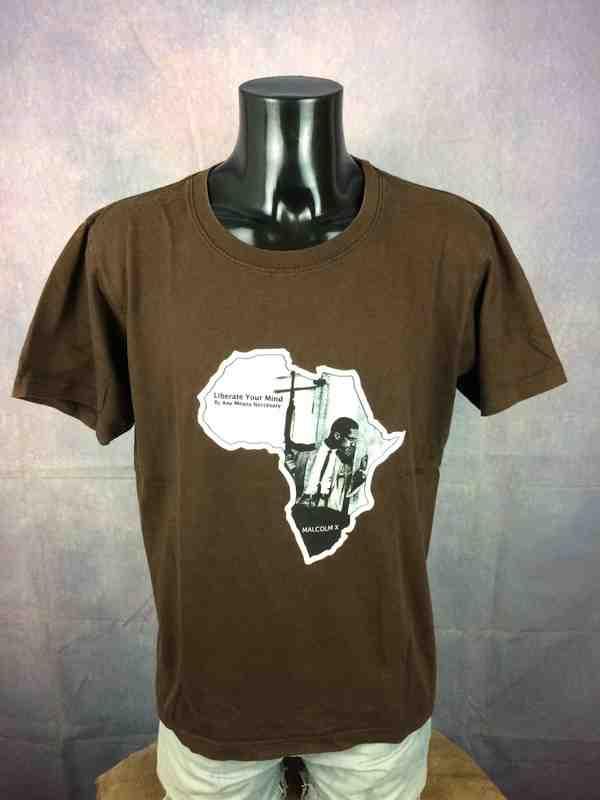 MALCOM X T Shirt Liberate Vintage 00s Africa Gabba Vintage 3 - MALCOM X T-Shirt Liberate Vintage 00s Africa