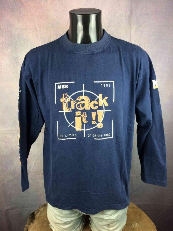 MBK T Shirt Vintage 1996 Booster Track Rare Gabba Vintage 2 - MBK T-Shirt Vintage 1996 Booster Track Rare