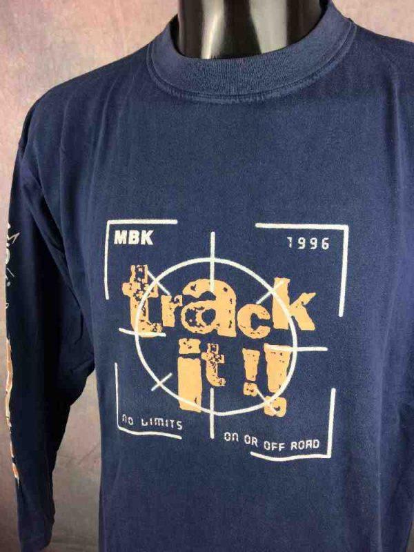 MBK T-Shirt Vintage 1996 Booster Track Rare - Gabba Vintage