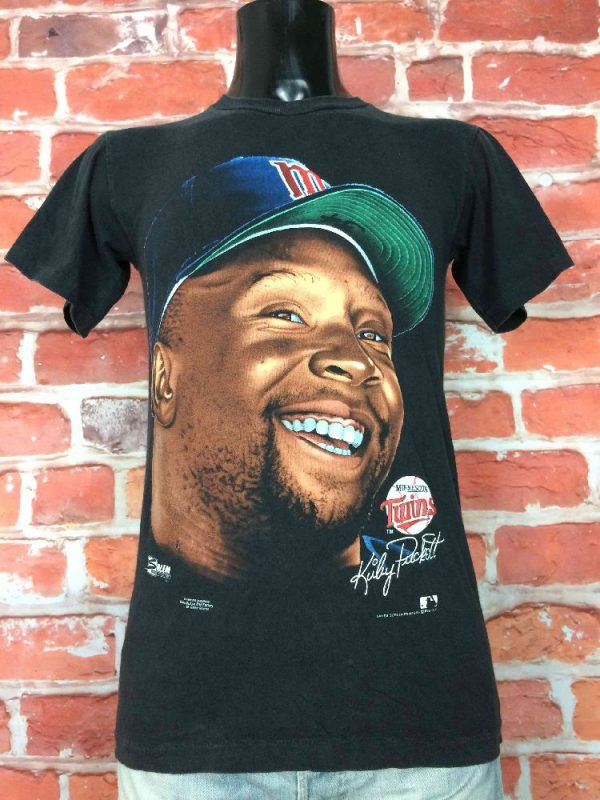 MINNESOTA TWINS T-Shirt Kirby Puckett 1991 - Gabba Vintage (3)