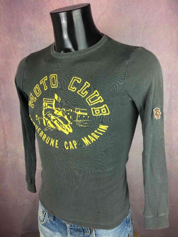 MOTO CLUB ROQUEBRUNE CAP MARTIN T Shirt 80s Gabba Vintage 3 - MOTO CLUB ROQUEBRUNE CAP MARTIN T-Shirt 80s