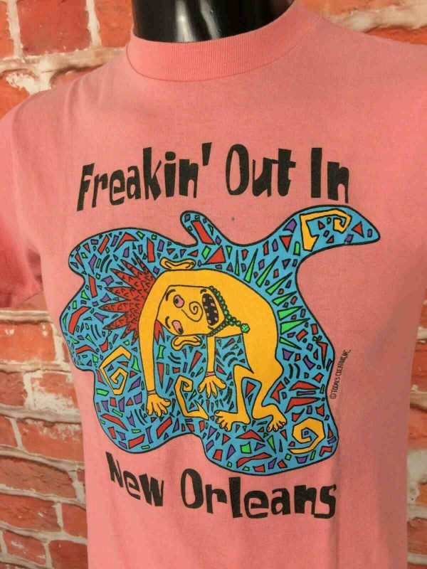 NEW ORLEANS T Shirt Vintage 90s Made in USA Gabba Vintage 1 - NEW ORLEANS T-Shirt Vintage 80s Made in USA