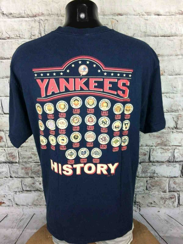 NEW YORK YANKEES T Shirt Majestic 1923 2009 Gabba Vintage 1 - NEW YORK YANKEES T-Shirt Majestic 1923 2009