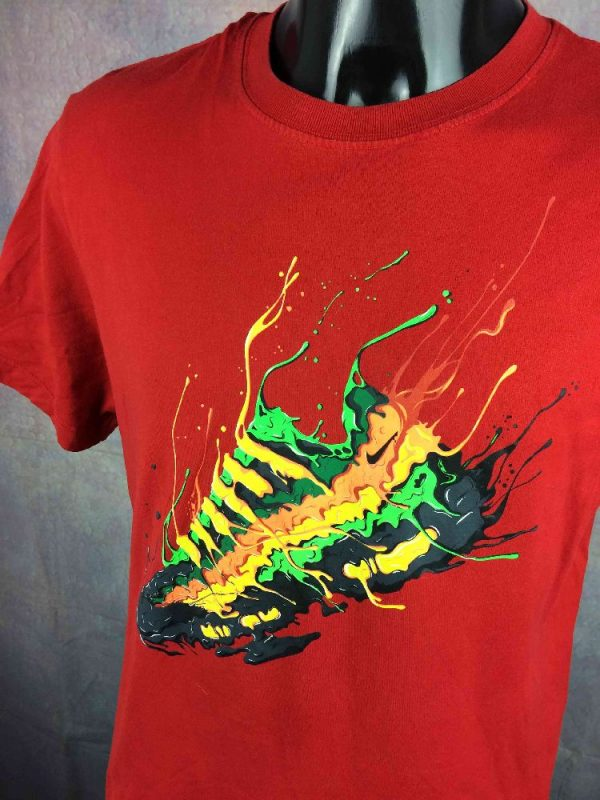 NIKE T Shirt Air Basket Sneakers Sportwear Gabba Vintage 3 - NIKE T-Shirt Air Basket Sneakers Sportwear
