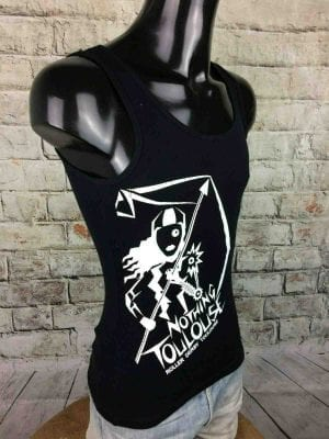 NOTHING TOULOUSE T-Shirt Roller Derby Noir - Gabba Vintage (2)
