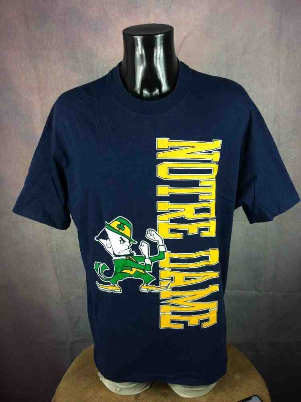 NOTRE DAME T-Shirt Vintage Made In USA Hanes - Gabba Vintage