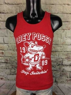 OBEY Posse Tank Top 1989 Stop Snitchin' Rat - Gabba Vintage