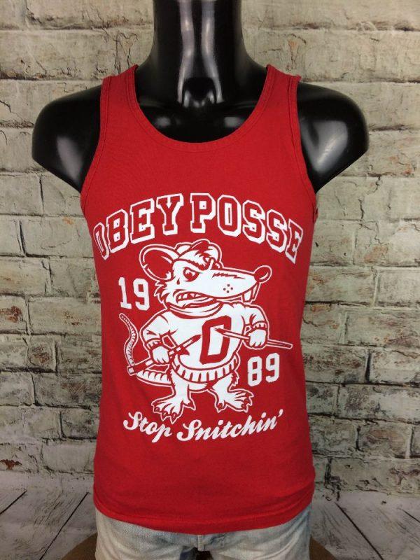 OBEY Posse Tank Top 1989 Stop Snitchin' Rat - Gabba Vintage