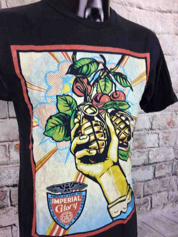 T-Shirt OBEY, édition Imperial Glory, Enjoy the Fruits of our Labors, American Arms Ind, Véritable Vintage années 00s, Grenade GraphicDesign
