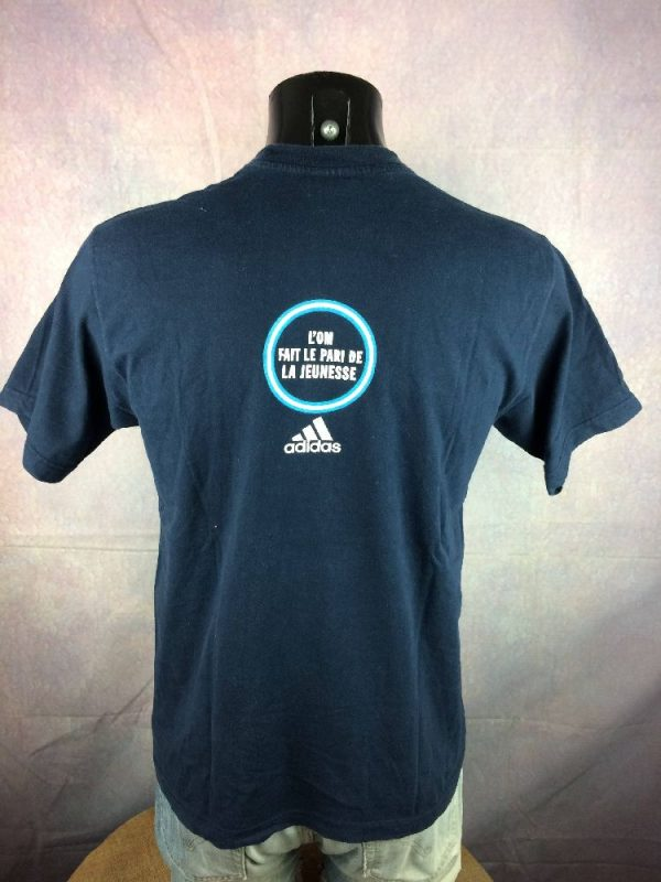 OM T Shirt Adidas Marseille Jeunesse Vintage 00s 2 - Marseille T-Shirt Adidas OM Jeunesse Vintage