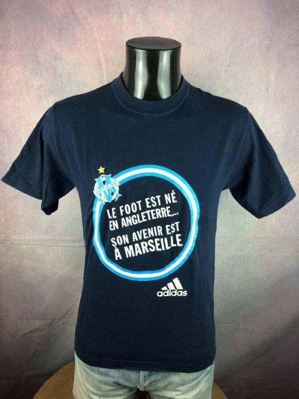 OM T Shirt Adidas Marseille Jeunesse Vintage 00s 4 - Marseille T-Shirt Adidas OM Jeunesse Vintage