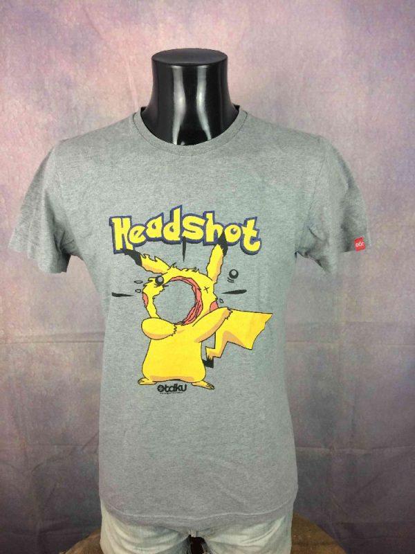 OTAKU T Shirt Headshot Pikachu Pokemon Game Gabba Vintage 2 - OTAKU T-Shirt Headshot Pikachu Pokemon Game